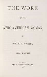 N.F. Mosell - work fo the AA Woman